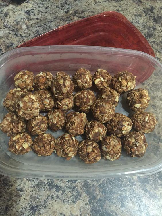 PB & chocolate granola snacks
