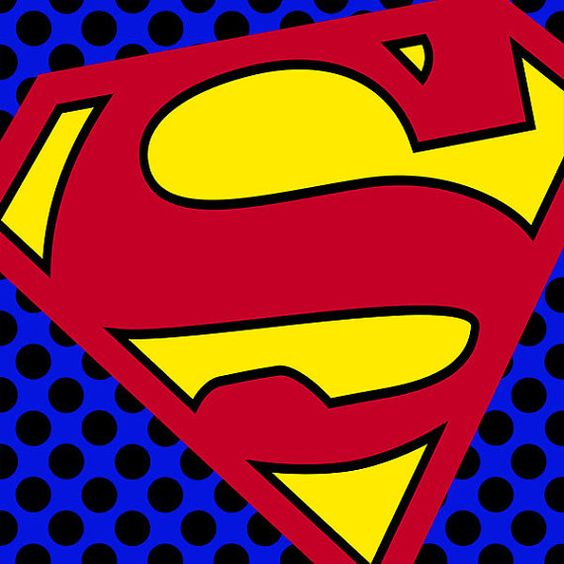 Superman logo dc comic pop art wall art print poster by - Cuadros pop art comic ...