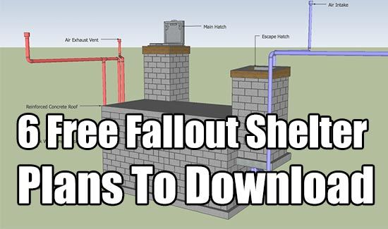 6 Free Fallout Shelter Plans To Download Fallout Survival and SHTF