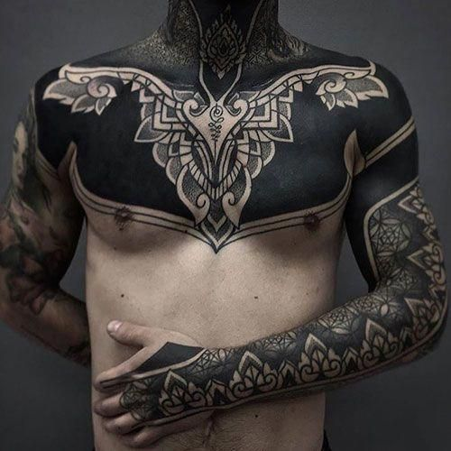 Black Chest Tattoo Best Chest Tattoos For Men Cool Chest Tattoo Ideas Designs Tattoos Tattoo Chest Tattoo Men Tattoos For Guys Badass Cool Chest Tattoos