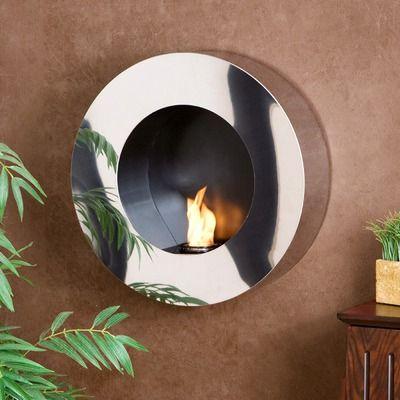 Wildon Home Hillside Round Wall Mount  fireplace