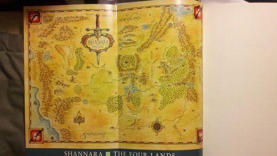 map of the four lands | world of shannara | Pinterest ...