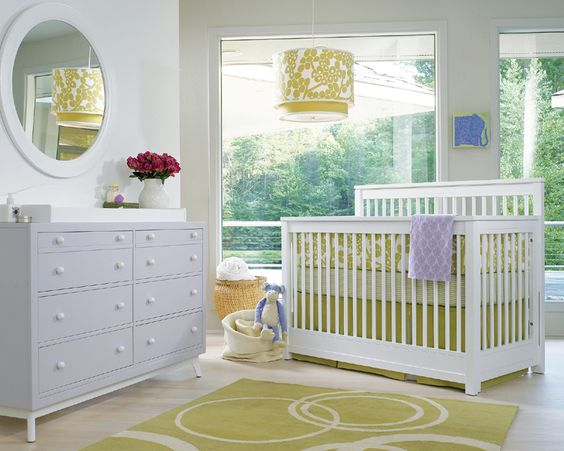 Love the mix of pastel blues and greens in this beautiful nursery!