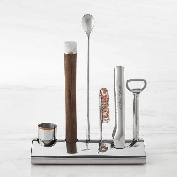 Williams Sonoma Bar Tool Set with Stand | Bar Accessories | Williams Sonoma