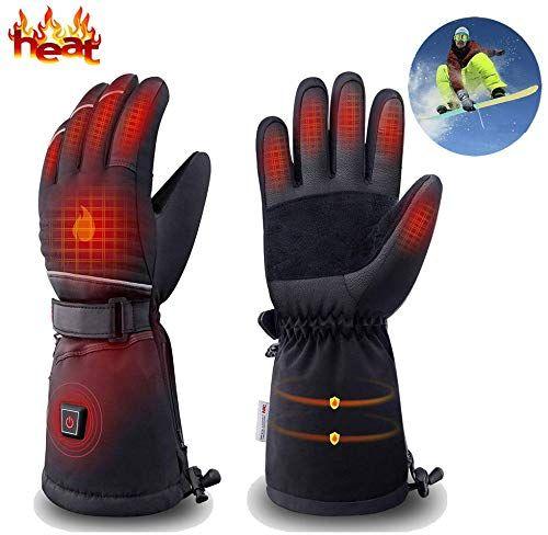 Buy Dowerme Rechargable Electric Heated Gloves Men Women Powered Battery Touchscreen Waterproof Hand Warmer Heated Mittens Leather Arthritis Winter Outdoor Skii Heated Gloves Gloves Hand Warmers