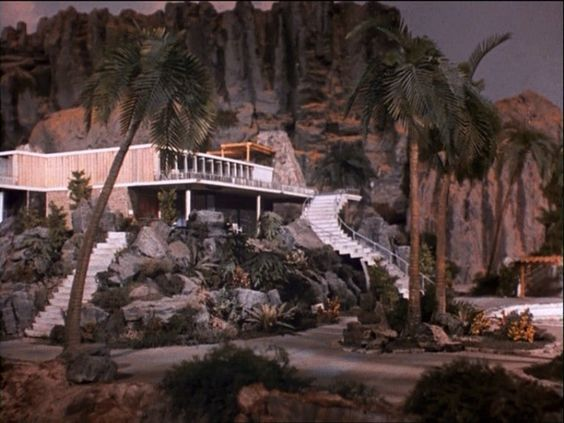 Gerry Anderson's Thunderbirds.  Tracey Island.