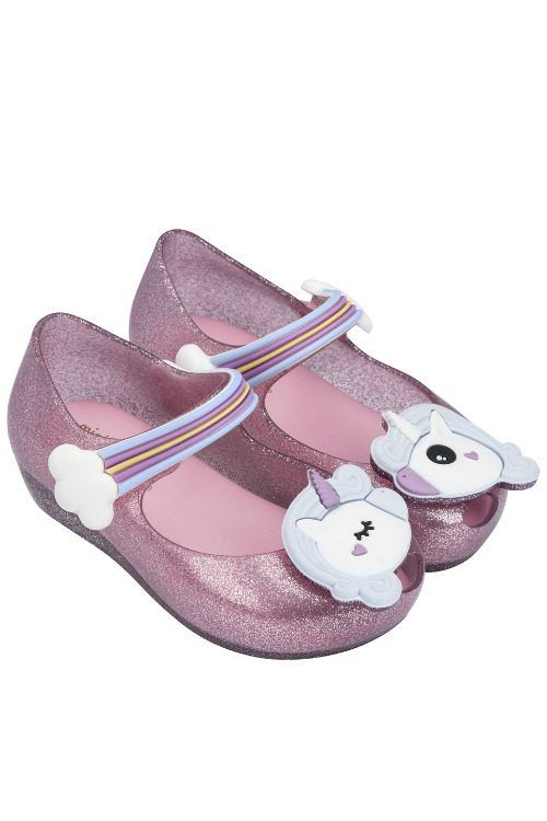 Mini Melissa Unicorn Shoes Pink