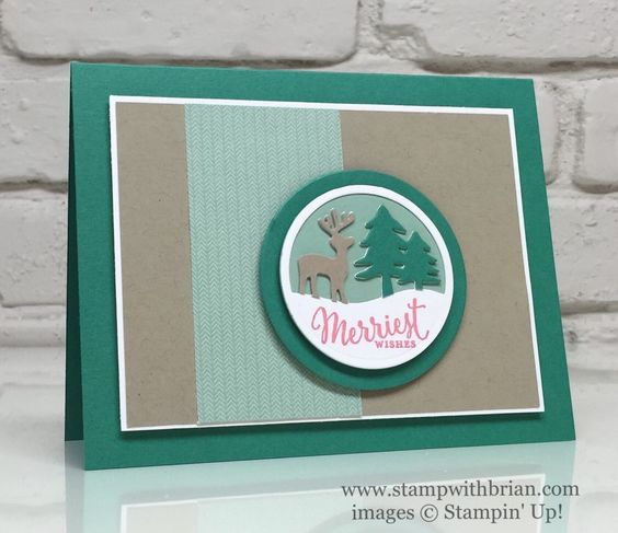 Merriest Wishes, Stampin' Up!, Brian King, PPA319, Christmas Card