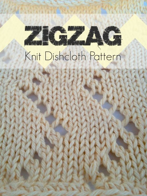 How To Knit A Zigzag Pattern : Zigzag Knit Dishcloth Pattern Classic, Patterns and Dishcloth