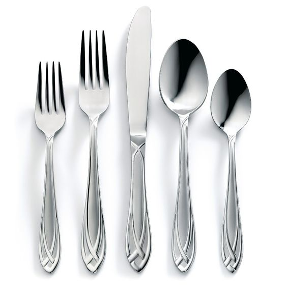 Hampton Forge Lace Flatware Set 54-Piece, Silver