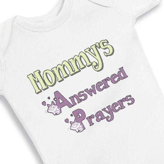 Mommy's Answered Prayers Faith Baby Girl by babyonesiesbynany, $12.50