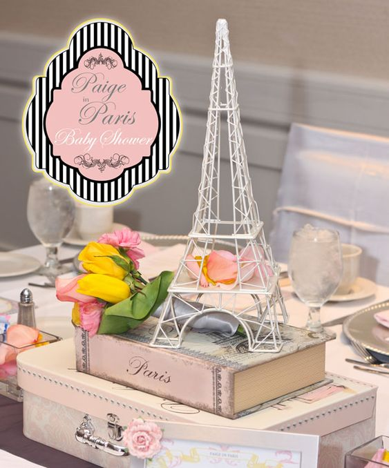Look at this cute Paris themed baby shower.  The link shows a lot of cute ideas! http://www.hostessblog.com/2011/04/a-paris-inspired-baby-shower-tres-chic/ @Patti Occhiuto you might like this too! :)