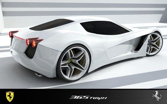 White Ferrari 365 Turin