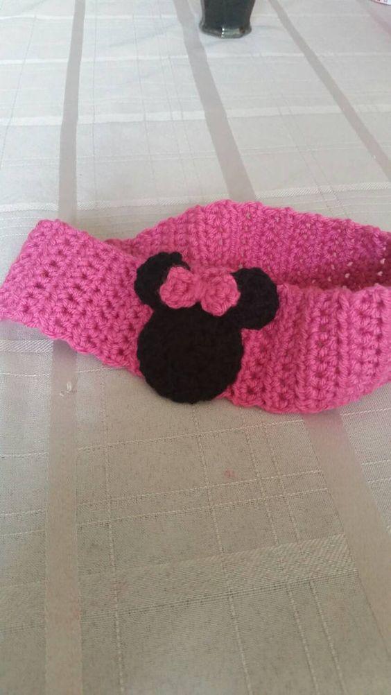 Disney, Crochet disney and Minnie mouse headband on Pinterest