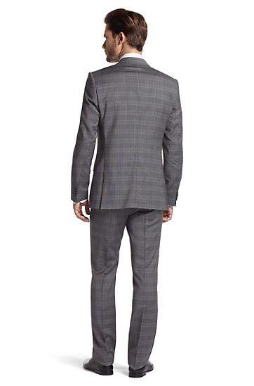 Boss Plaid Grey Suit