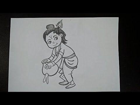 Drawing Krishna Janmashtami Drawing Easy How To Draw Little Krishna Krishna Pencil Drawing Youtube Easy Drawings Pencil Drawings Little Krishna