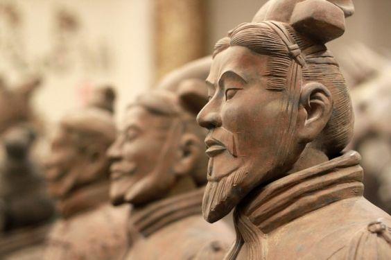 The amazing Terracotta Warriors of China's first Emperor, Qin Shi Huang, in Xian, China