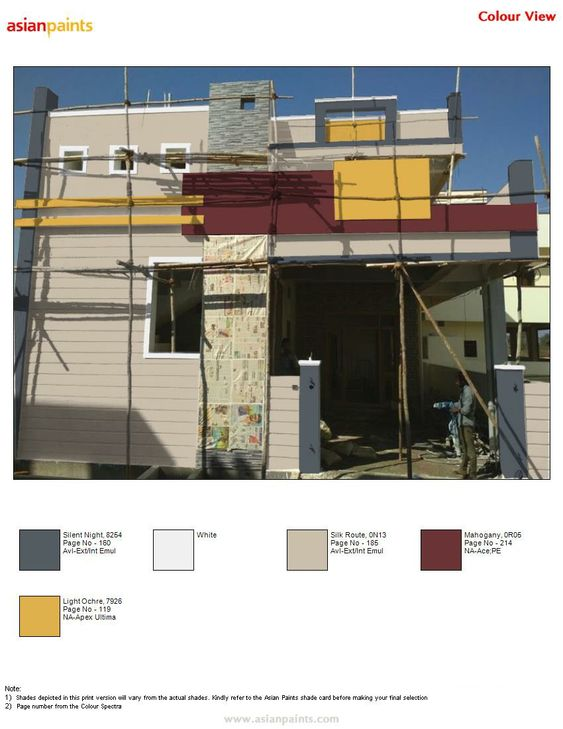 Pin By Raghavendra Raghu On Top 200 Asian Paints Color Views Window Grill Design Modern Exterior Paint Color Combinations Exterior Color Combinations