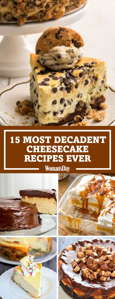 Try these drool-worthy twists on the classic dessert everybody loves. Chocolate Chip Cookie Dough Cheesecake is the ultimate cheesecake for chocolate chip cookie lovers.