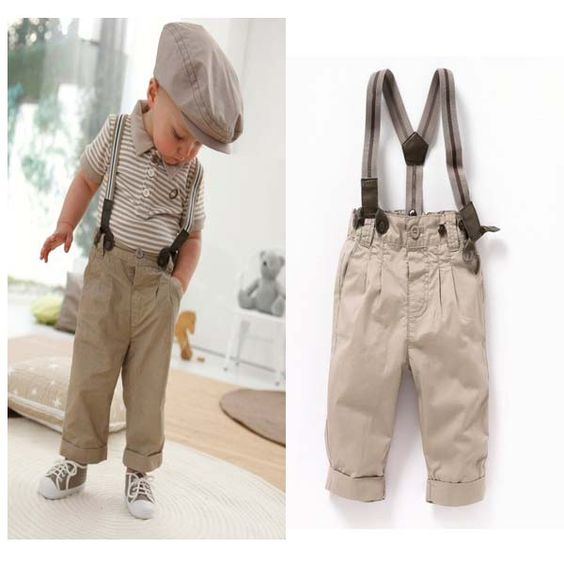 Free-shipping-Baby-Boy-handsome-casual-clothing-set-kids-striped-T-shirt-overalls-two-piece