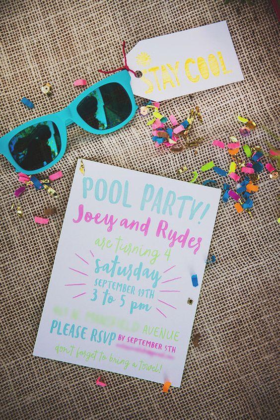 Un joyeux «pool party» !