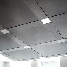 drop ceiling tiles painted with metallic aluminum paint paint