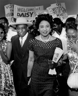 """Just over 50 years ago, a rock shattered the picture window of a light-brick house in Little Rock, Ark. A note was tied to it that read: """"Stone this time. Dynamite next."""" The house belonged to Daisy Lee Gatson Bates and L.C. Bates. The couple led efforts to end segregation in Arkansas—on buses, in libraries and in the public schools."""
