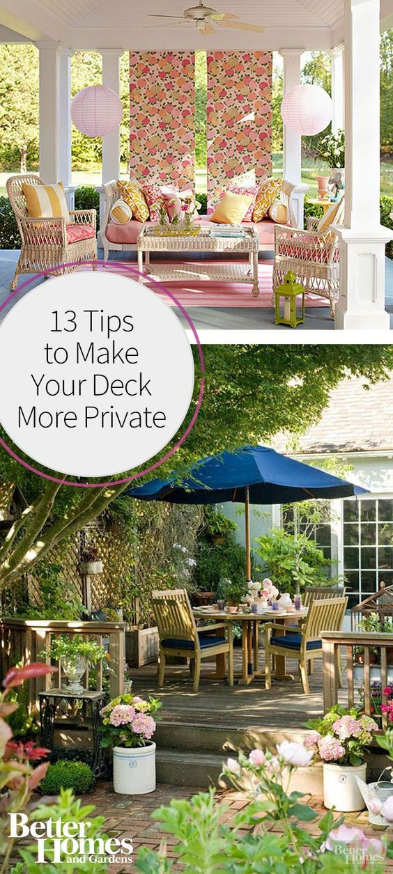 13 tips to make your deck more private decks backyards for Things to consider when building a deck