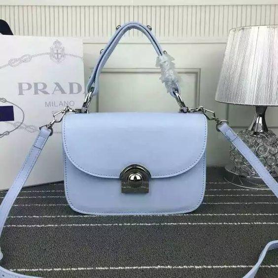 prada calf leather arcade bag