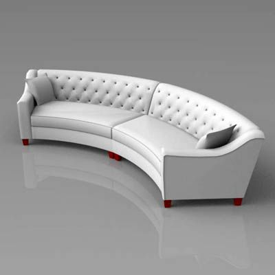 Riemann Curved Tufted Sofa From Home Decorators Co.... | Sofas | Pinterest  | Tufted Sofa, 3d And Models