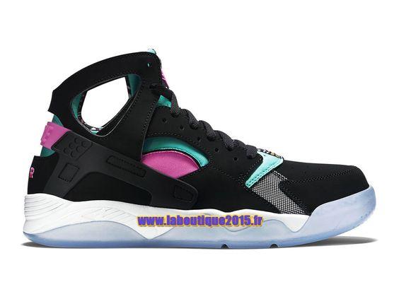 Officiel Nike Air Flight Huarache - Chaussure de Nike Basket-ball Pour Homme Noir/Rose framboise/Blanc/Rétro clair 705005-003