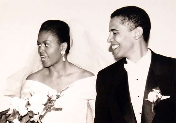 The Obamas' wedding day: October 3, 1992
