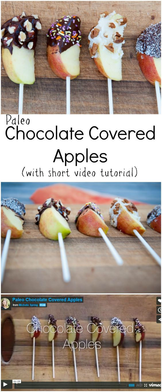 Chocolate Covered Apples Recipe and video tutorial by Thriving on Paleo (Paleo, gluten-free). Perfect for Halloween!