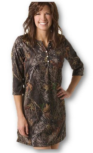 Camo Night Shirt Dress Womens Mossy Oak Or Naked North