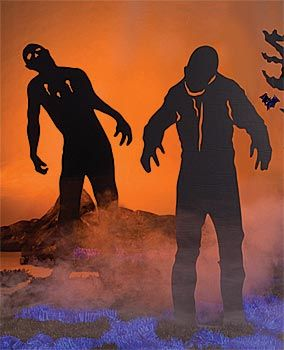 Zombie silhouettes For Halloween village
