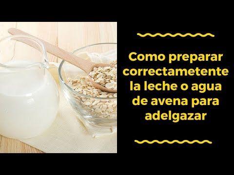 preparar avena con agua y leche