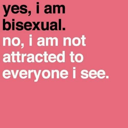 Resultado de imagen de biseuxal im not attracted to