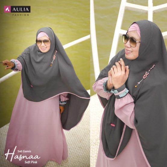 Gamis Aulia Hasna Set Gamishasna Model Pakaian Teman