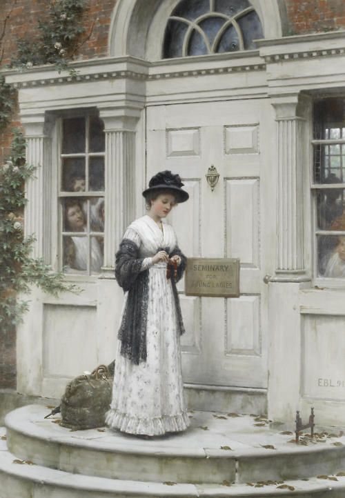The New Governess ~ Edmund Blair Leighton
