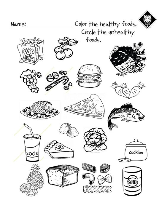 Worksheet Healthy Eating For Kids Worksheets warm activities and healthy on pinterest vs unhealthy food choices worksheet use it as a up activity while talking