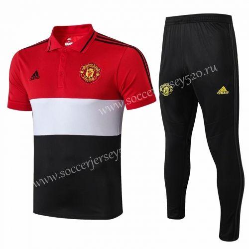 2019 2020 Manchester United Red White Black Polo Uniform 815 Manchester United White And Black Manchester