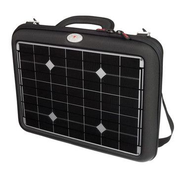Generator laptop charger case. Solar powered.