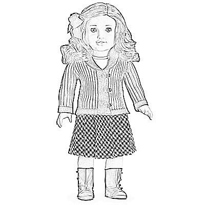 madame alexander coloring pages | American Doll Caroline Coloring Pages Sketch Coloring Page