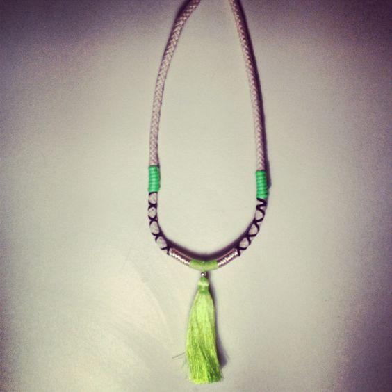 Tassle Neon Green Necklace by emeldo