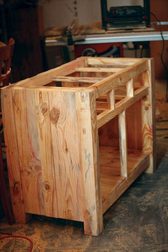 Home homemade and kitchen islands on pinterest for Kitchen carcasses online