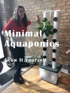 Jardim vertical mínimo de Aquaponics
