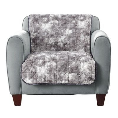 Sure Fit Faux Fur Quilted Armchair Slipcover