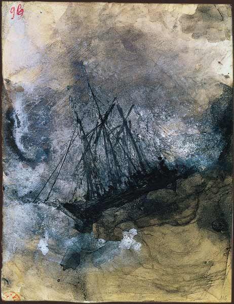 """Victor Hugo  """"Les travailleurs de la mer : naufrage"""""""