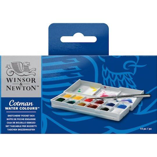 Winsor Newton Cotman Watercolors Sketchers Pocket Box Paint Michaels Winsor And Newton Watercolor Winsor Newton Watercolor Paint Set