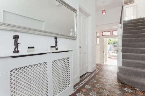 hallway flooring and radiator cover